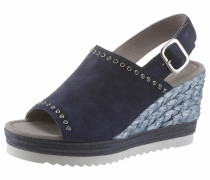 Sandalette navy / grau