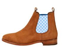 Chelsea Boot 'julia' mit blauem Vichykaro