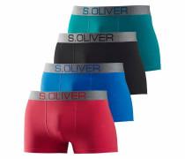Bodywear (4 Stück) mit kontrastfarbenem Webbund