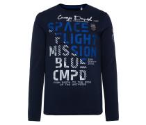 Shirt blau / nachtblau / weiß