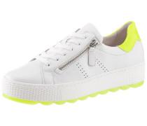 Sneaker weiß / neongelb