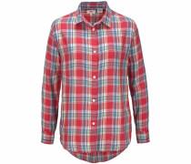 Hemdbluse 'Avery-Shirt' blau / rot