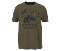 T-Shirt oliv / schwarz