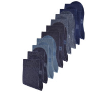 Damensocken (10 Paar) blau