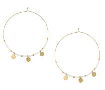 Ohrringe 'Coin Charm Seedbead Hoops' gold