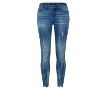 Jeans 'Ania 9012 ripped hem' blau