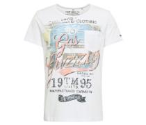 T-Shirt '1/2' weiß / mischfarben