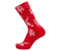 Socken 'Foundation Rossa' rot / weiß