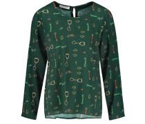 Blusenshirt grasgrün / mischfarben