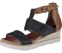 Sandalette blau / braun