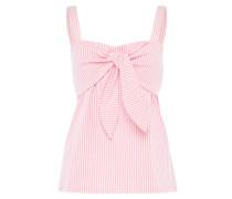Bustier-Top rosa / weiß