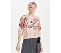 Blumenprint Sweatshirt rosa