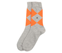 Socken 'Neon Queen' grau / neonorange