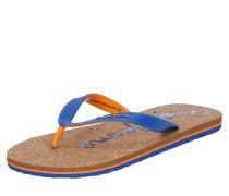 Zehentrenner 'hawi' blau / braun