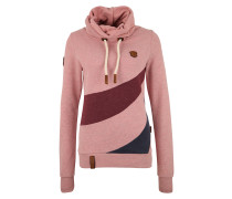 Sweatshirt navy / hellpink / burgunder