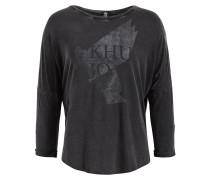 T-Shirt 'yule' grau / schwarz
