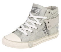 Hohe Sneaker mit Strass silber