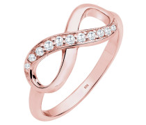Ring 'Infinity' rosegold / weiß