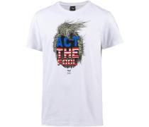 T-Shirt Herren mischfarben / weiß