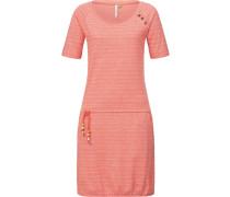 Kleid 'Veseta Organic' lachs / weiß
