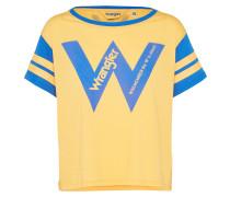 T-Shirt 'b&y W Crop Tee' gelb