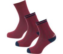 Socken nachtblau / rotviolett