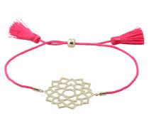 Armband 'crown chakra' gold / fuchsia