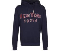 Kapuzensweatshirt 'hoody Tape NY' blau