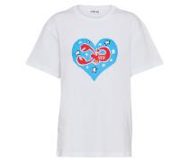 T-Shirt 'Tara' blau / rot / weiß