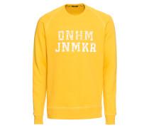 Sweatshirt 'dnhm IBZ Sweat Prs' gelb / weiß