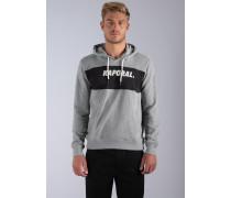 Sweatshirt 'Sybus' grau / schwarz / weiß