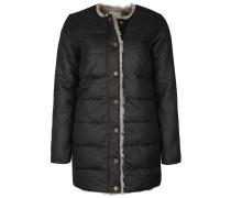 Mantel beige / schwarz
