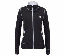 Zipper-Jacke schwarz / weiß