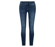 'Lynn Mid Skinny' Ankle Jeans blau