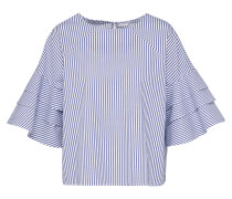 Bluse 'lucky' blau / weiß