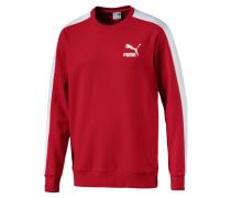 Sweatshirt 't7' rot / weiß