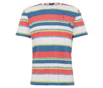 T-Shirt mit Brusttasche mischfarben