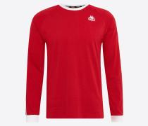 Langarmshirt 'auyen' rot / schwarz / weiß