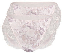 Slip 'winter Bloom' nude / rosa