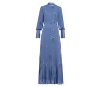 Kleid 'Plisseé' hellblau