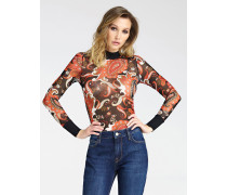 Shirt 'Mikro-Netz' mischfarben