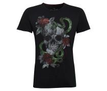T-Shirt 'MT Snake' mischfarben / schwarz