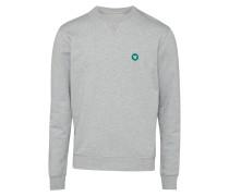 Sweatshirt grau / dunkelgrün