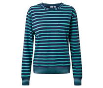 Pullover 'LS Mariner PKT Str' grün / blau