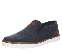 Slipper blue denim / braun