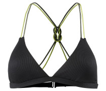 'Ascend' Bikini Oberteil gelb / schwarz