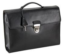 Toscana Aktentasche Leder 38 cm schwarz