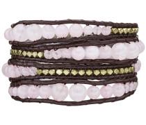 Echtlederarmband mit Metallbeads