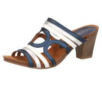 Sandaletten saphir / silber / weiß