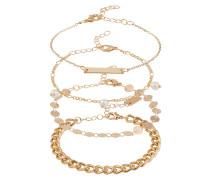 Armband-Set 'Fiametta' gold / weiß